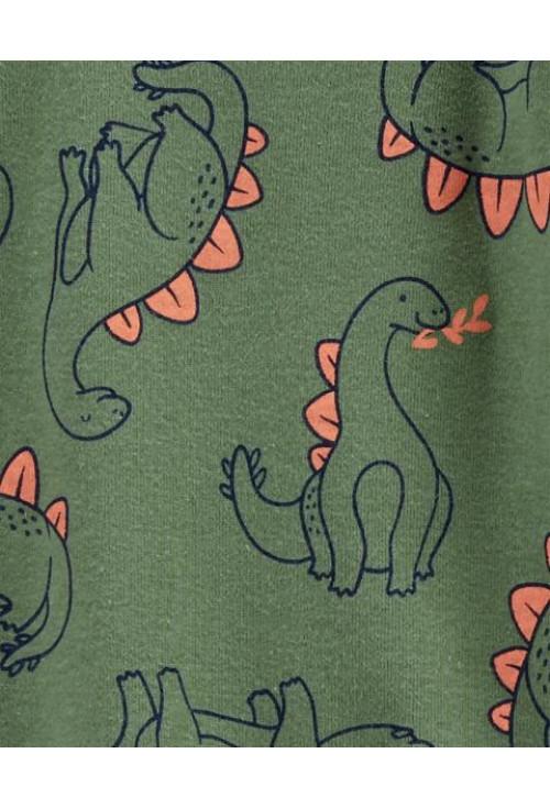 Carter's Set 3 piese 2 pijamale bebelus si caciulita Dinozauri