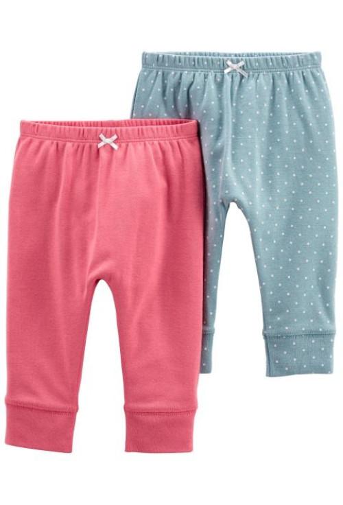Carter's Set 2 piese pantaloni roz si buline