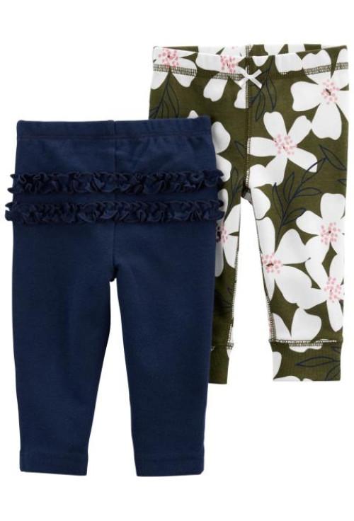 Carter's Set 2 piese pantaloni Flori