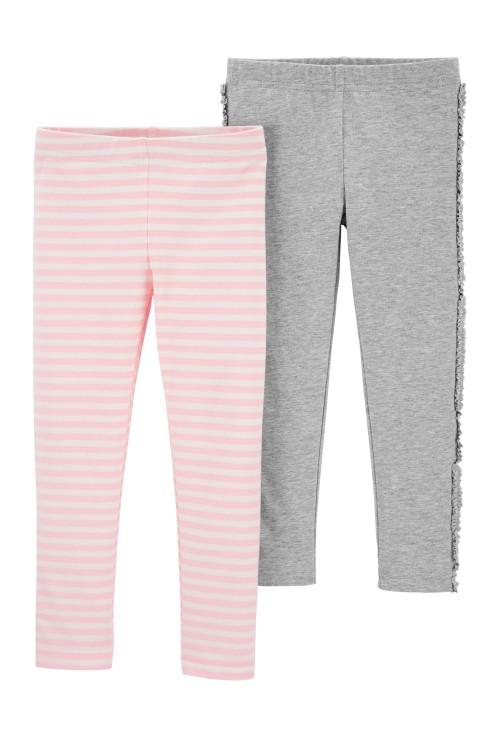 Carter's Set 2 pantaloni roz / gri