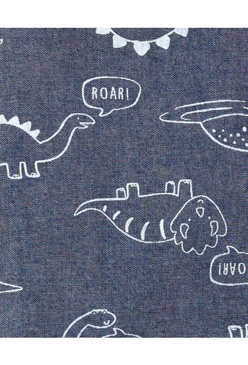Carter's Set 2 piese camasa si pantaloni Dinozauri