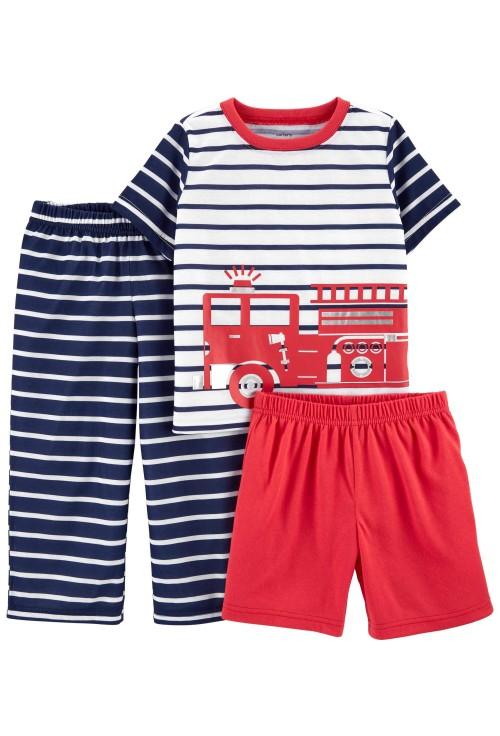 Carter's Pijama 3 piese Masina de pompieri