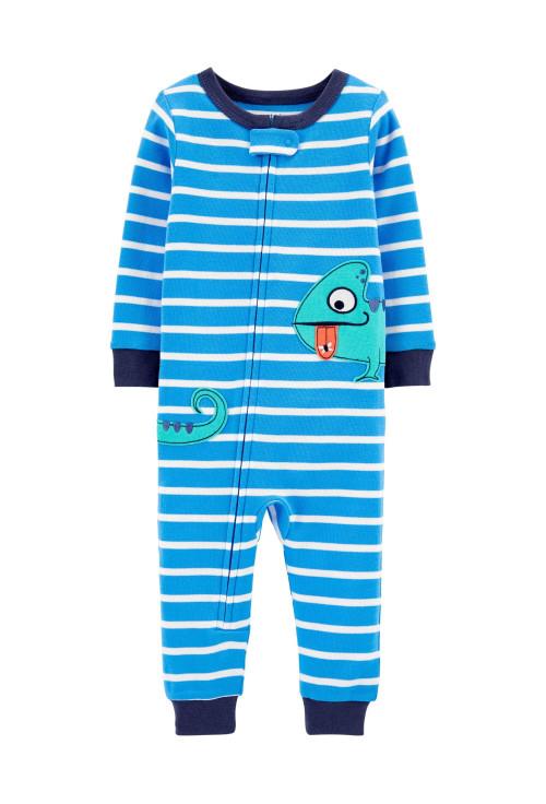 Carter's Pijama albastra cu fermoar Iguana