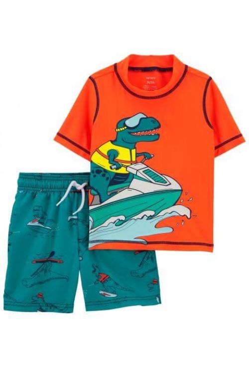 Carter's Costum de baie cu protectie solara Dinozaur