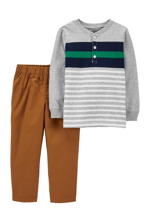 Carter's Set 2 piese pantaloni si bluza cu dungi