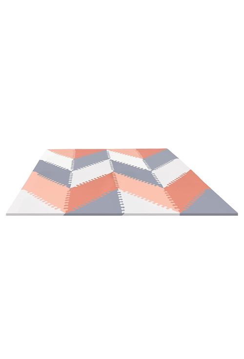 Skip Hop Covoras de joaca puzzle - Geometric Playspot, Gri / Roz