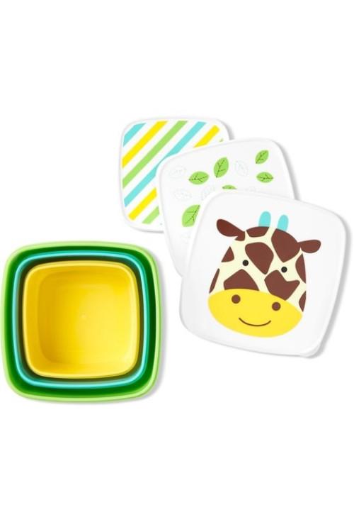 Skip Hop Set 3 cutii pentru pranz Zoo - Girafa