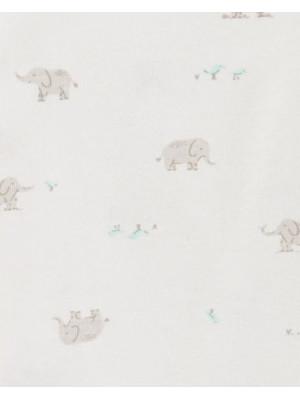 Carter's Set 2 body bebe inchidere laterala uni, elefantei
