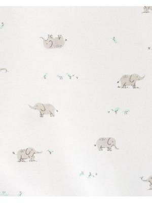 Carter's Set 2 piese Elefantel pijama si caciulita
