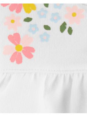 Carter's Set 3 piese hanorac, pantaloni si body cu flori