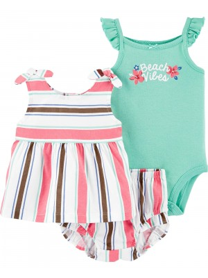 Carter's Set 3 Piese body maiou si pantaloni scurti Beach