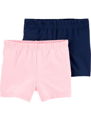 Carter's Set 2 piese pantaloni scurti roz si bleumarin