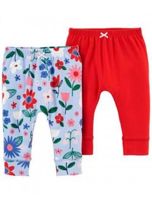 Carter's Set 2 piese pantaloni cu flori