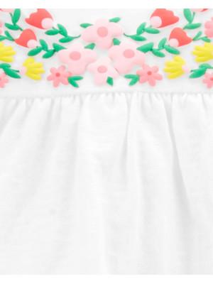 Carter's Set 3 piese tricou, body si pantaloni scurti Flori