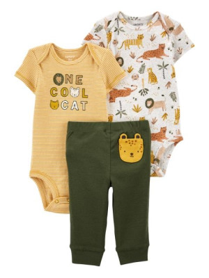 Carter's Set 3 piese pantaloni si 2 body Safari