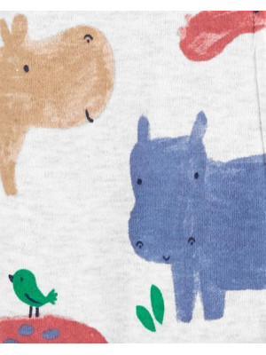 Carter's Pijama cu fermoar reversibil Hipopotam