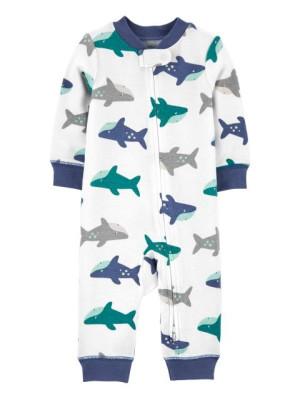 Carter's Pijama cu fermoar reversibil Rechin