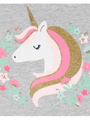 Carter's Set 2 Piese tricou & pantaloni Unicorn