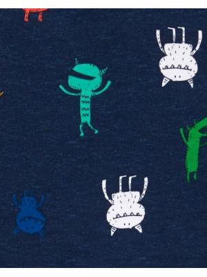 Carter's Set 2 piese bluză si pantaloni Monstruleti