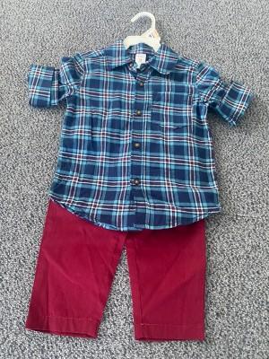 Carter's Set 2 piese camasa si pantaloni