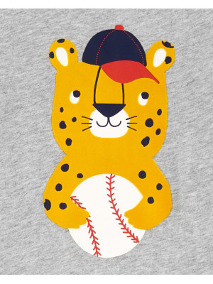 Carter's Set 2 piese tricou si pantaloni scurti Leopard