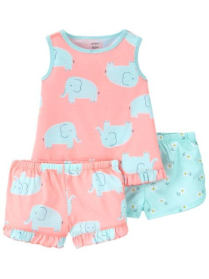 Carter's Pijama 3 piese Elefanti