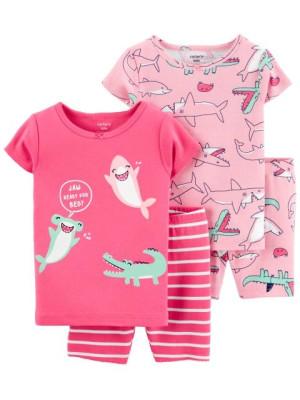 Carter's Set 2 pijamale Rechin