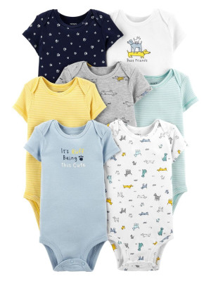 Carter's Set 7 piese body bebe catelusi colorati