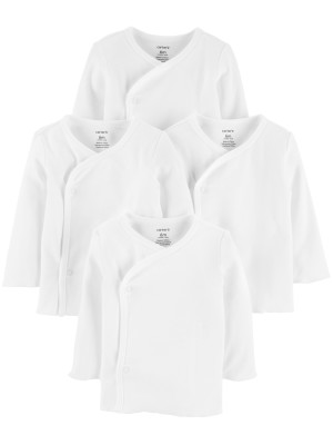 Carter's Set 4 bluzite cu inchidere laterala alb