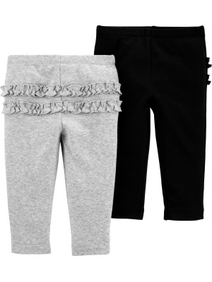 Carter's Set 2 piese pantaloni cu volanase