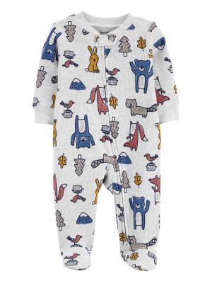 Carter's Pijama cu fermoar reversibil Animalute
