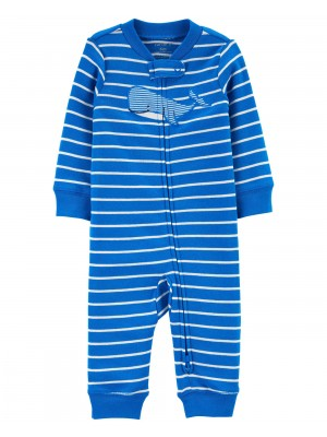 Carter's Pijama cu dungi Balena