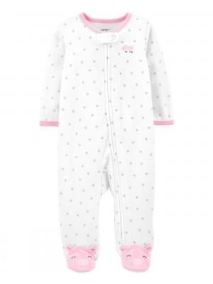 Carter's Pijama cu fermoar reversibil Purcel