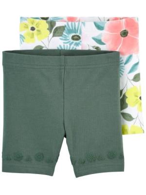 Carter's Set 2 piese pantaloni scurti Flori