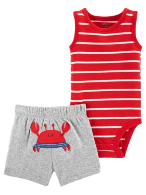 Carter's Set 2 piese body si pantaloni Crab