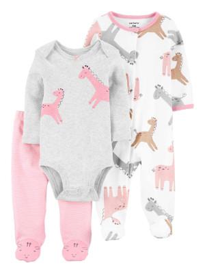 Carter's Set 3 piese pantaloni body si pijama Girafa