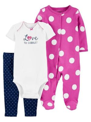 Carter's Set 3 piese pantaloni body si pijama Buline