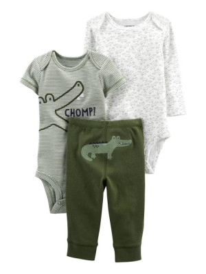 Carter's Set 3 piese pantaloni si 2 body Aligator