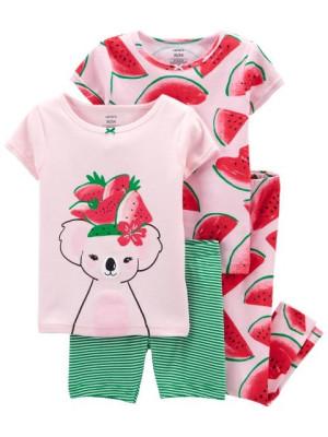 Carter's Set 2 pijamale Pepene rosu