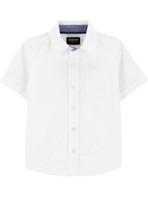 Oshkosh cămașă alba cu maneci scurte