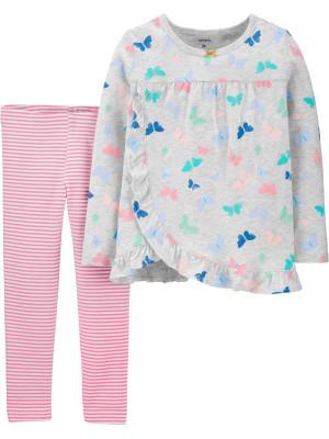 Carter's Set 2 Piese bluză & pantaloni Fluturasi