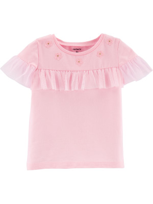 Carter's Tricou cu tulle și floricele