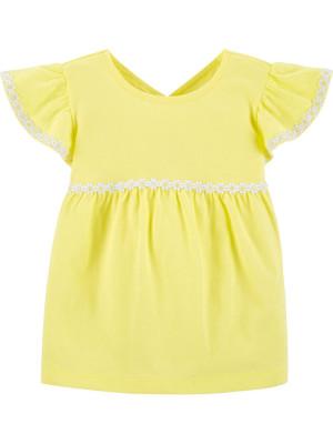 Carter's Tricou galben cu floricele