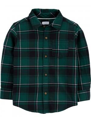 Carter's Camasa cadrilata verde