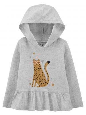 Carters Bluza cu gluga Leopard