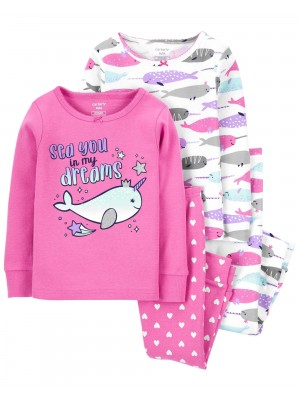 Carter's Set 2 pijamale roz Narval