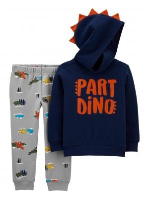 Carter's Set 2 piese hanorac si pantaloni Dino