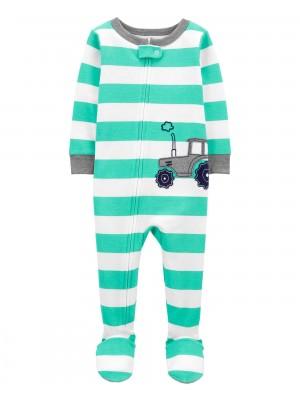 Carter's Pijama cu dungi Tractor