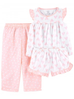 Carter's Pijama 3 piese Inimioare