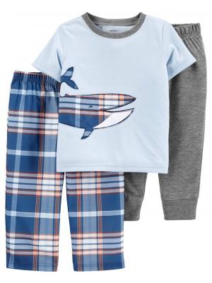 Carter's Pijama 3 piese Balena